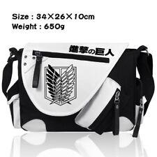 Anime Attack on Titan Scouting Legion Shoulder Messenger Bag Zip Travel Bag Gfit