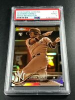 GLEYBER TORRES 2018 TOPPS CHROME #31 SEPIA REFRACTOR ROOKIE RC PSA 9 YANKEES