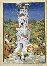 Construcción de la Torre de Babel Genesis 1423 Bedford horas, De 7x5 Pulgadas impresión Nuevo Nbl