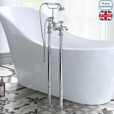 EDWARDIAN TRADITIONAL FREESTANDING CHROME BATHROOM BATH SHOWER TAP MIXER