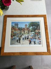 MARGARET LOXTON SIGNED FRAMED LTD EDITION PRINT , THE TOURNAMENT ST LEON
