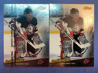 1998-99 Topps Finest Touch + Parallel #4 Dominik Hasek Buffalo Sabres Lot X2
