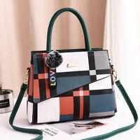 Women's Leather Handbag Tote Shoulder Bag Crossbody Purse Messenger Tote Bags