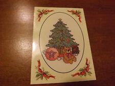 carte grille DMC sapin Noël