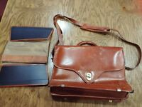 Hartmann Belting Leather Brown Expandable Briefcase