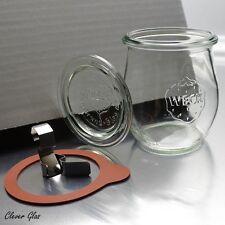 24 Weckgläser 220 ml Tulpenform RR60 ink. Ringen & Klammern Kostenloser Versand