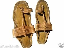 US 9 men Sandal Handmade Leather Shoes Flip Flop traditional Kolhapuri Chappal