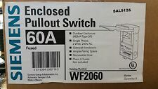 SIEMENS ENCLOSED PULLOUT SWITCH 60/50/40/30 AMP FUSED DISCONNECT WF2060