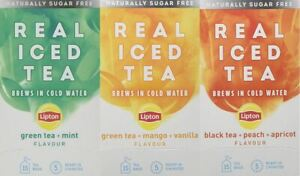 Lipton Cold Brew Infuse Infusions Real Iced Tea Bags - Naturally Sugar Free