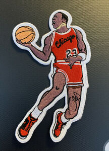 Chicago Bulls Michael Jordan Big Large 5in Iron / Sew On Embroidered Patch