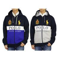 Polo Ralph Lauren Big Pony Emblem Paneled Zip Hooded Sweatshirt Hoodie Jacket