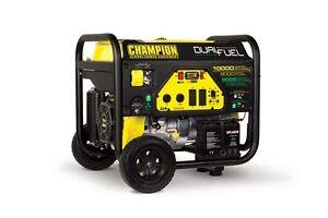 100297R - 8000/10,000w Champion Dual Fuel Portable Generator - REFURBISHED