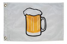 "Taylor Made 12"" x 18"" White Beer Mug Perma-Print Nylon Flag Boat Marine 9218"