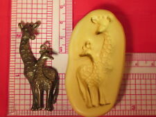 giraffe Silicone Push Mold Polymer clay Resin Miniature plaster A789 fondant