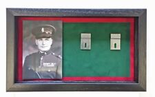 Large RUC Medal Display Case With Photograph For 5 - 7 Medals. Black Frame