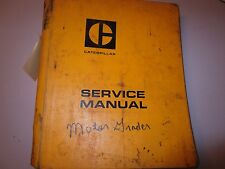 Cat Caterpillar Motor Grader 120 126 130 Service Manual