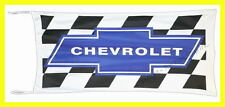 CHEVROLET FLAG BANNER CHECKERED BLUE colorado 5 X 2.45 FT 150 X 75 CM