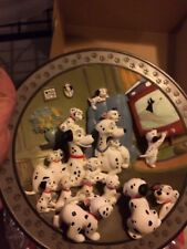 4 Disney's 101 Dalmatians Limited Edition Collectible 3D Plates NIB w Stands