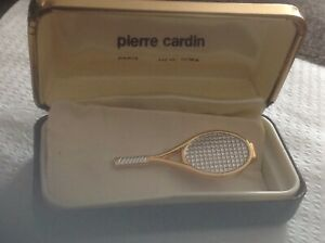 Vintage  Pierre Cardin TENNIS  Racket Tie Clasp, Clip, Bar,