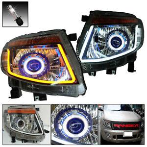 Fit 2011-2015 Ford Ranger Head Lamp Light Drl Projector Ccfl Ute Xlt Px Wildtrak