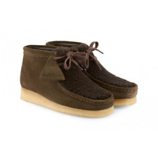 CLARKS ORIGINALS WALLABEES BROWN PEAT SUEDE SIZE 5..5 LACE UP BOOTS