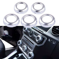 5pcs Dashboard Console Switch Button Ring Cover Trim for Land Rover Discovery 4