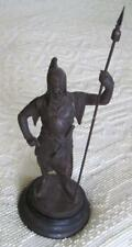 "Vintage 18.5"" Detailed Pot Metal Roman Soldier Statue"