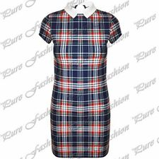 Polyester Checked Wiggle, Pencil Plus Size Dresses for Women