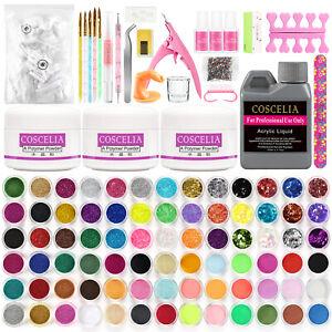 Pro Acrylic Nail Kit Acrylic Powder Liquid Brush Starter DIY Art Tools Color Set