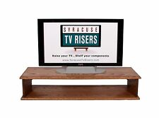 """Special Walnut Double Top TV Riser 44""""WX16""""DX8 3/4""""H Solid-Safe syracusetvrisers"""