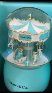 Tiffany & Co. Carousel Musical Globe Authentic