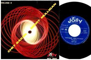 CHET BAKER GERRY MULLIGAN Volume 2 EP 4 tracks 45rpm 7' + PS 1959 ITALY VG