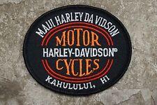 MAUI HARLEY-DAVIDSON MOTORCYCLES KAHULULUI (KAHULUI), HI, SEWN-ON PATCH, NEW!