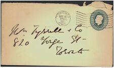 CANADA, Postcard 1923 2c green embossed envelope, envelope torn (D)