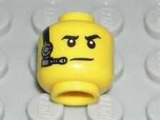 LEGO Yellow Head Black Eyebrows Silver Headset Spy Minifigure 71013