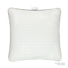 Stella McCartney White Gold Metal Satin-Lined Perforated Box Clutch Shoulder Bag