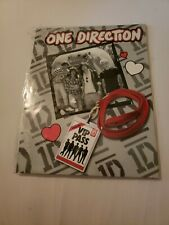 2 Pack 1D One Direction Portfolio Pocket Folders 3 Hole Punched School Supplies