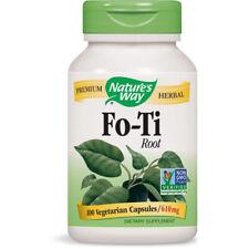 Nature's Way Fo-Ti Root Dietary Supplement Premium Herbal - 610 mg/100 Capsules