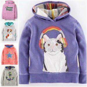 New Ex Mini Boden Applique Hoodie Was £28 Now £14.99