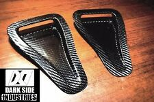CARBON FIBER HOOD VENTS INTAKE DUCTS UNIVERSAL (PAIR) MADE FROM DRY CARBON FIBER