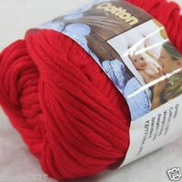 Sale New 1 Skein x 50g Soft 100% Cotton Chunky Super Bulky Hand Knitting Yarn 17