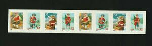 3014-3017 Christmas Santa & Children - Toys Plate # Coil Strip of 8  #V1111 1995