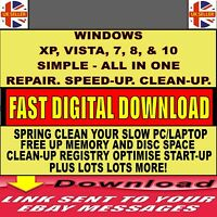 ALL IN 1 SPEED BOOST OPTIMISE SPEED UP SLOW PC CLEAN FIX TUNE-UP TOOL DOWNLOAD