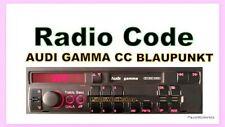 Audi Gamma CC Blaupunkt-Radio Code-Key Code!