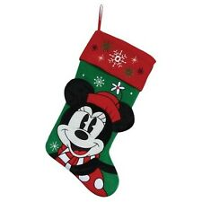 NEW Disney Minnie Mouse Plush Christmas Stocking Holiday