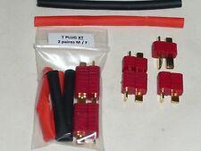 Connecteurs T PLUG (XT Original) 2 paires Male / Femelle + gaine thermo DEAN