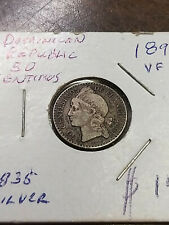 Coin - Central America - Dominican Republic - 1891 - VF - 50 Centesimos - Silver