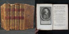 4 premiers tomes sur 5, de la Médecine Domestique de BUCHAN / Moutardier 1802