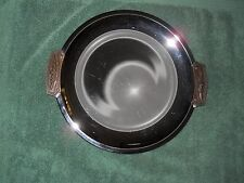 Vintage ~ Kromex 13 1/2 inch Round Tray Silverplate with Handles