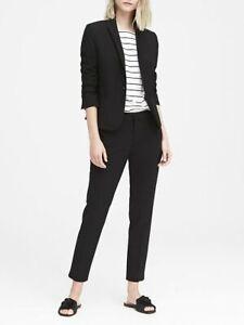 Banana Republic Classic-Fit Washable Italian Wool-Blend Blazer, 4 Black #267508